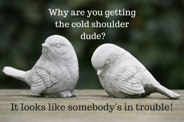 Someone you cold shoulder gives when the What to